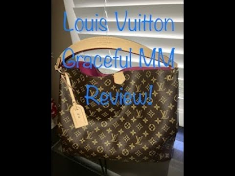 Louis Vuitton Graceful MM Monogram in Pivione - YouTube 346497e81ccc1