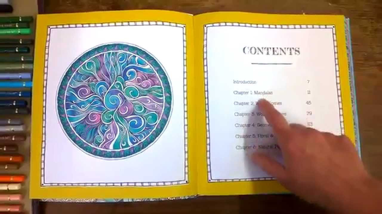Colouring Book Review Color Me Calm Walk Through Coloured Pages And Tips Youtube