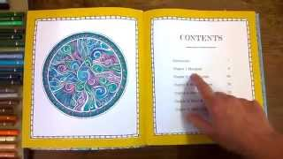 Colouring Book Review Color Me Calm, walk through coloured pages and tips