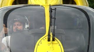 A pécsi mentőhelikopter indítása és felszállása