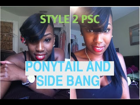 Style 2 Ponytail And Feathered Side Bang Youtube