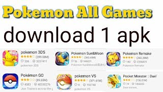 How To Download Pokemon ALL Games on 1 apk Gigh Graphics Game
