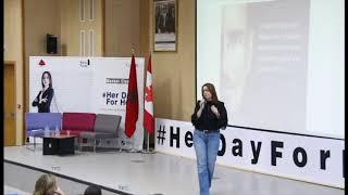 Intervention Habiba Dassouli lors de la Master Class #HerDayForHer