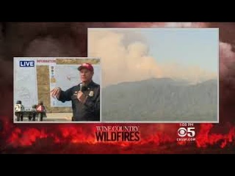 CAL FIRE, Sonoma County officials update wildfire situation. | Saturday, 14 October 2017