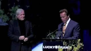 James Cameron and Arnold Schwartzenegger