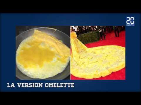 La robe de Rihanna dtourne en omelette et pizza