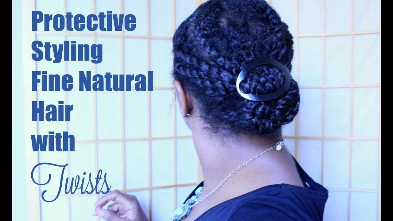 How To Protective Style Fine Natural Hair With Twists Youtube