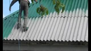 Очистка  и покраска крыши(Чистка и покраска крыш и заборов из металочерепицы,шифера,ондулина. Очистка крыш от мха,сажи,глубоко въевше..., 2016-06-14T20:01:24.000Z)