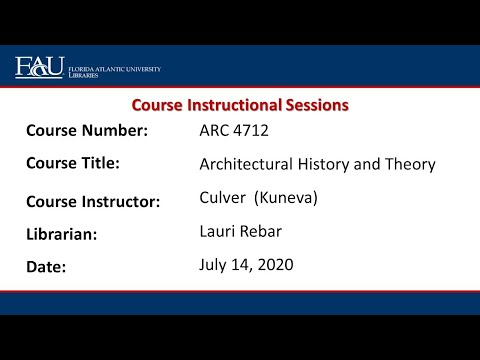 ARC 4712 Architectural History And Theory, Dr. Culver (Rebar) 7/14/20