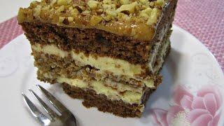 Торт с орехами и карамелью | Рецепт орехового торта | Ciasto z orzechami  i karmelem