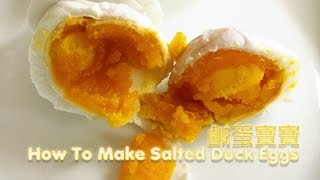 HOW TO MAKE SALTED EGGS 芭爷教你做咸鸭蛋