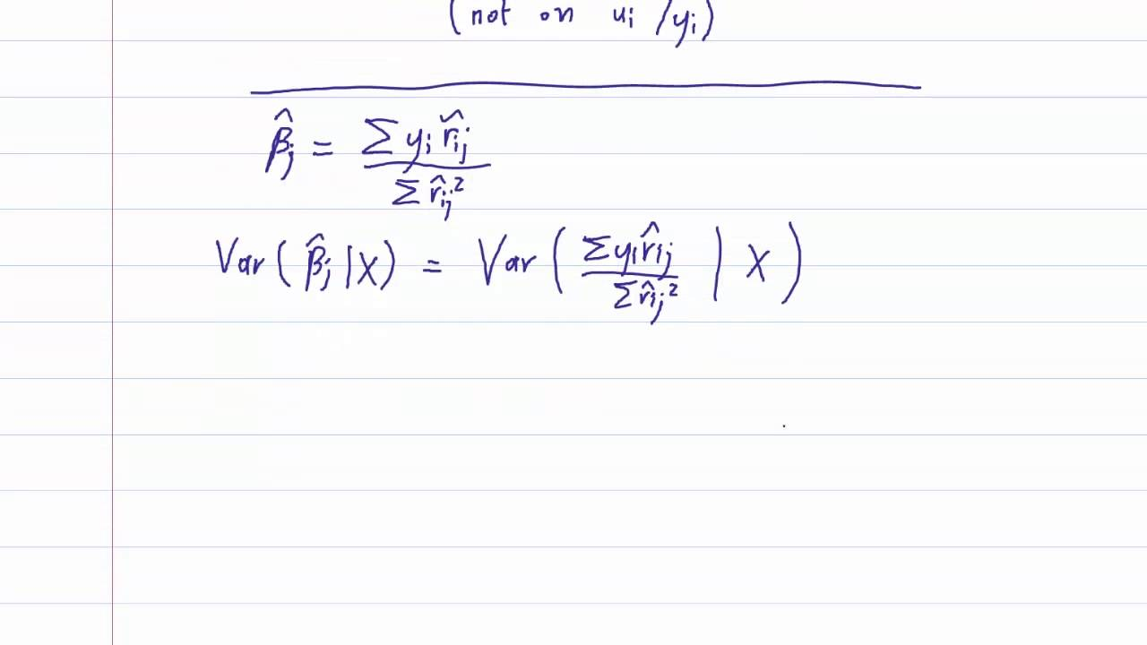 Eco375f 4 1 Multiple Linear Regression Conditional Variance Youtube