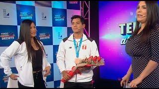 Novia de medallista peruano le pidió matrimonio - Tengo Algo Que Decirte