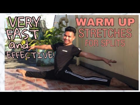 how to get your splits fast and effective  warm up