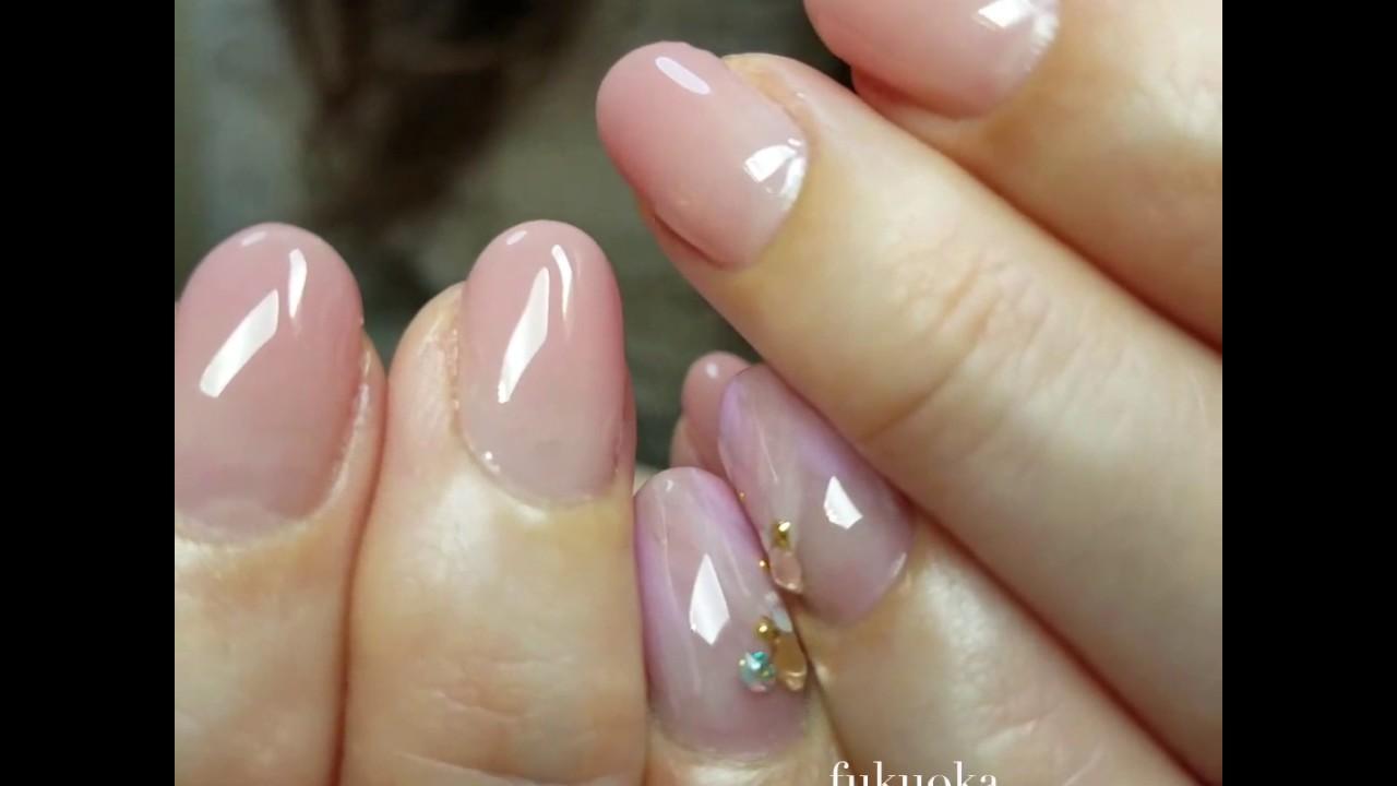 春のピンクグラデーションネイル♡