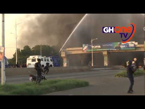 ADENTA RIOTS — Residents go rampage over uncompleted footbridge. #GHOneNews