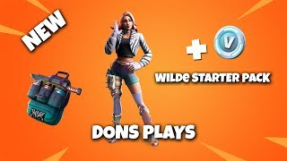 🔴 LIVE || FORTNITE *NEW WILDE STARTER PACK SKIN* || 500 LIKE GOAL 🔴