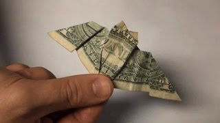 Origami Bat - Dollar Bill Paper Folding - Halloween Bats Tutorial - Full Instructions