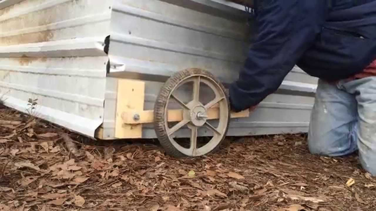 Tractor Wheels Chicken Co Op : Chicken project putting wheels on tractor youtube