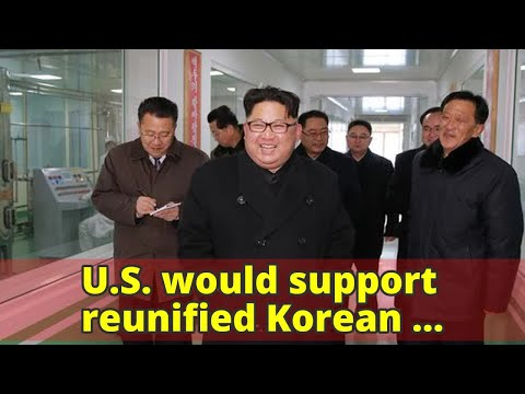 U.S. would support reunified Korean Peninsula — without nukes, State Department says