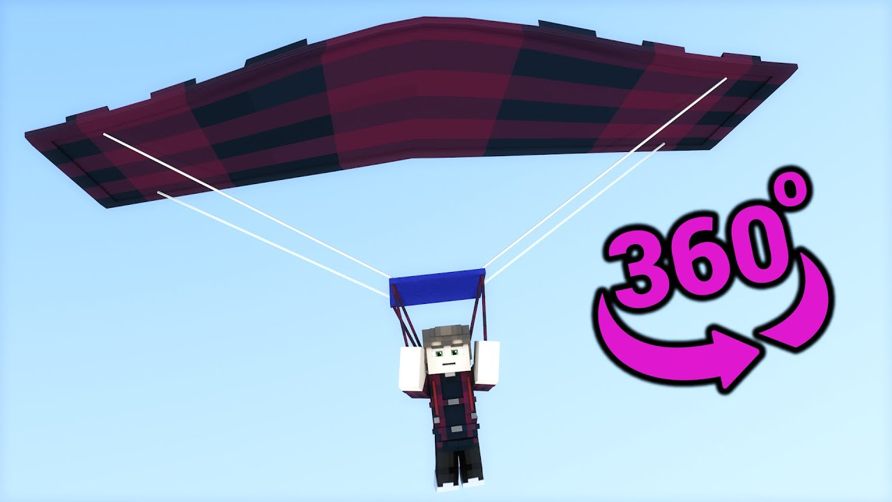 🪂SkyDiving 360° Video - Minecraft VR
