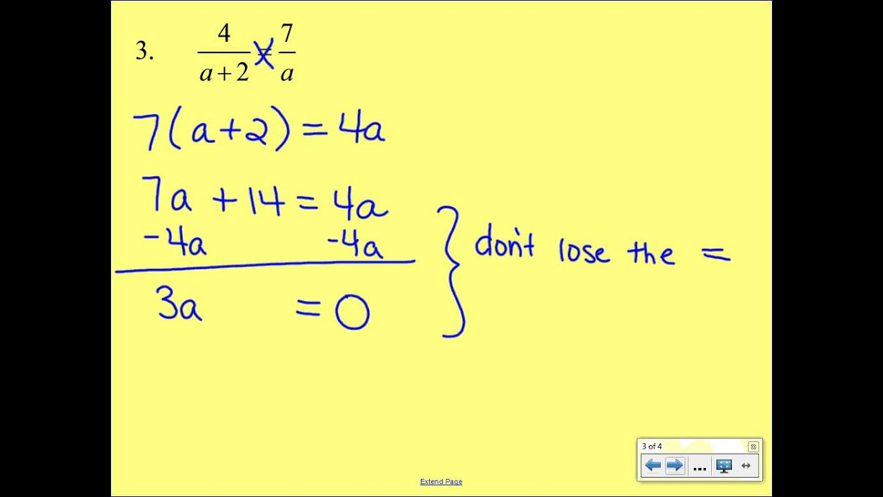 Solving Proportions With Distributive Property