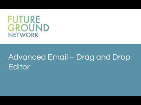 4. Advanced Email - Drag and Drop Designer