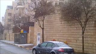 Snow in Jerusalem March 2 2012