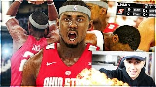 COLLEGE HOOPS 2K17 LEBRON JAMES MYCAREER #3 - INSANE ENDING TO LEBRON s COLLEGE CAREER!!