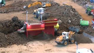 RC CONSTRUCTION SITE, BIG RC MACHINES AT WORK