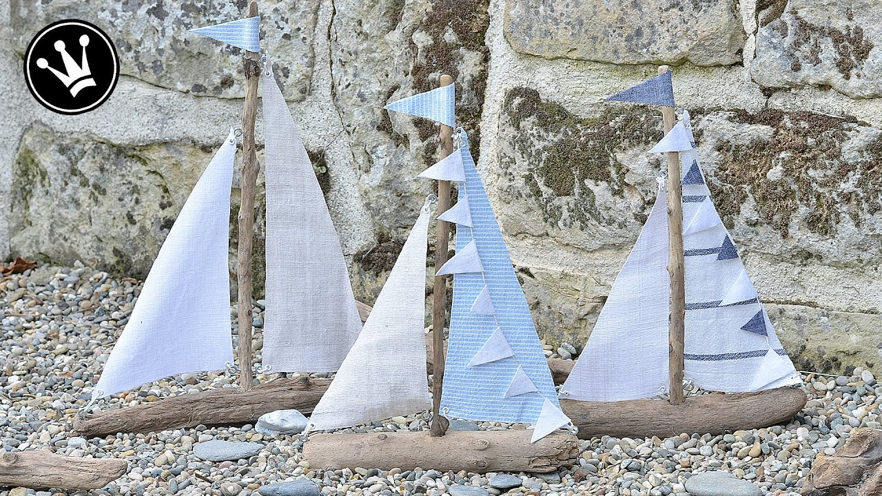 DIY Seegelboote aus Treibholz mit liebevollen Details