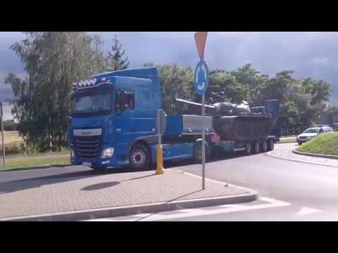 Transport czołgu do Łosic. Firma Wokas Cz. 1