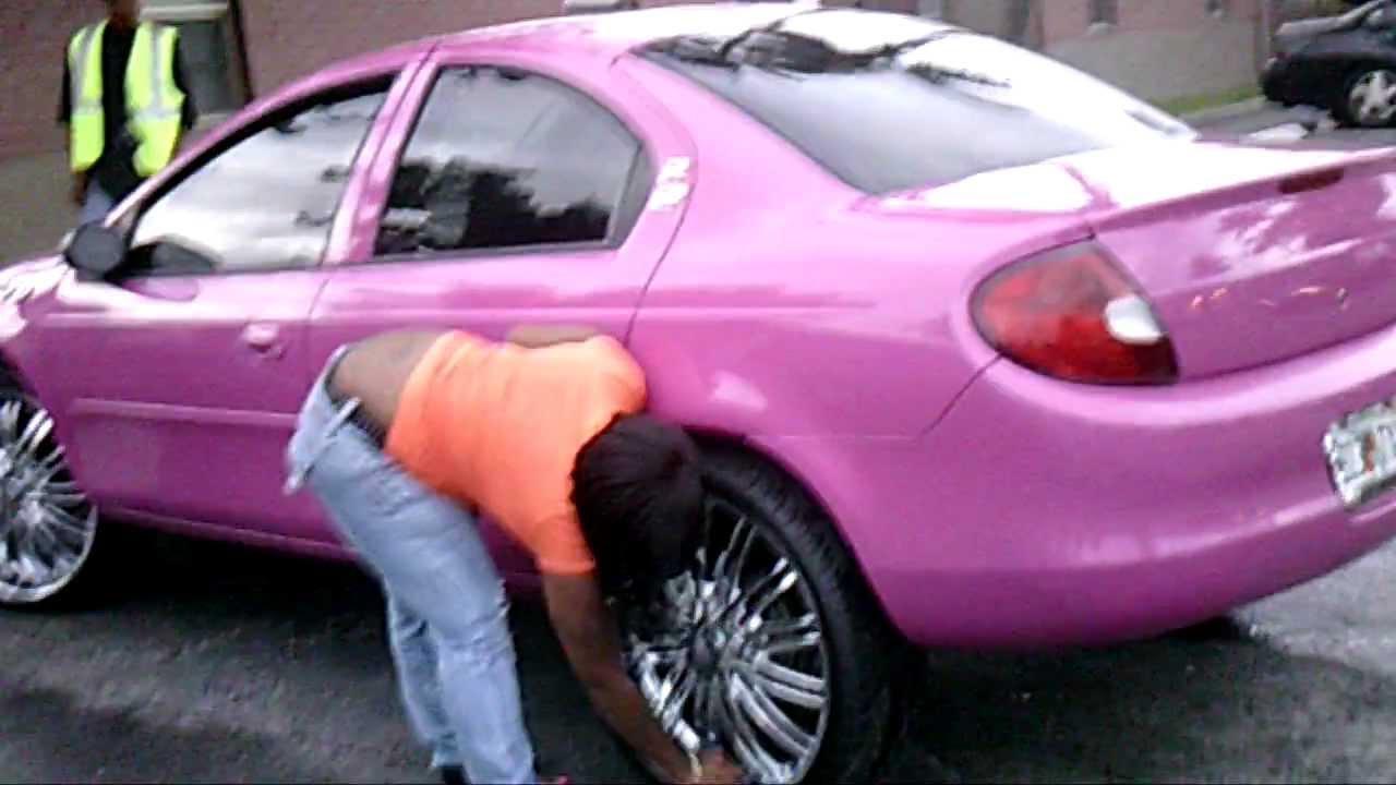 PiefacePresentWhips)01 Dodge Neon,Purple,Wet!!!!On 22's Rippin ...