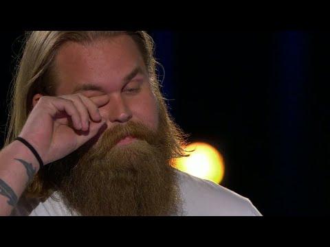 Christoffer Kläfford i tårar under beskedet i Idol 2017 - Idol Sverige (TV4)