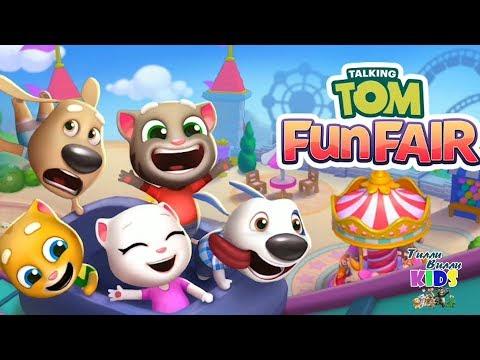 ПАРК МЕЧТЫ ТОМА НОВАЯ ИГРА Мой говорящий кот Том и друзья Talking Tom Fan Fair