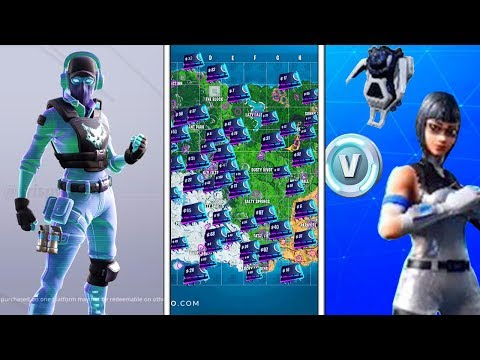 BREAKPOINT SKIN RELEASE DATE, FREE PS PLUS PACK 7, ALL Fortbyte Locations, Fortnite PS4 CELEBRATION