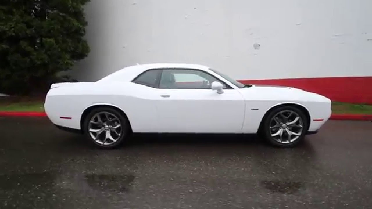 2016 dodge challenger r t plus white gh172433 redmond seattle youtube. Black Bedroom Furniture Sets. Home Design Ideas