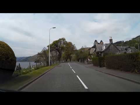 Spring Drive From Comrie To St Fillans Highland Perthshire Scotland
