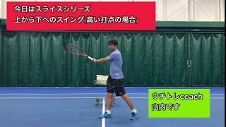 おうちでテニスのトレーニング「今日はスライス・上から下へのスイング編」