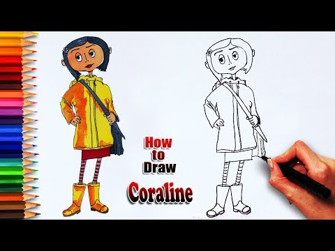 How To Draw Coraline Coraline Drawing Easy Drawing Step By Step Draw For Learning Youtube