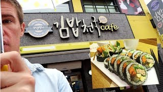 Kimbab Cheonguk in South Korea and How to eat with Chopsticks