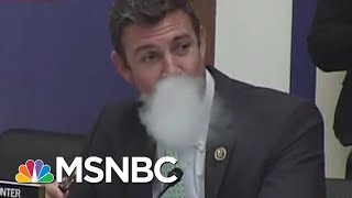 GOP Congressman Hops Fake Border To Prove How Easy It Is To Cross Border | All In | MSNBC