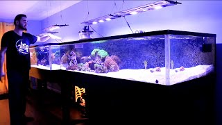 REEF TANK ADDICTION Season 2 Episode 2 ( 410 Gallon 16 feet long All in One Reef ) PILOT