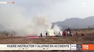 Instructor y estudiante pierden la vida en accidente de avión en Colina
