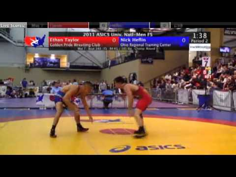 University Freestyle 84kg - Nick Heflin vs. Ethan Taylor