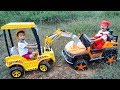Construction Vehicles Toys for kids   Electric Ride On Car & Excavator for Children