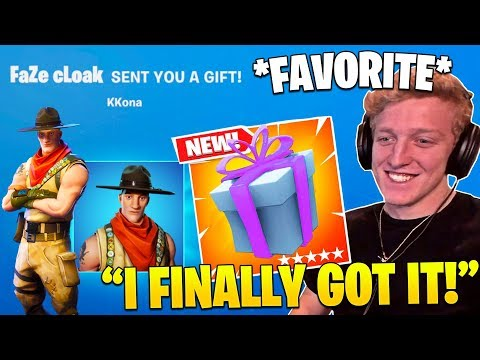 TFUE *GOES CRAZY* When GIFTED SKIN HE ALWAYS WANTED! (Fortnite Moments)