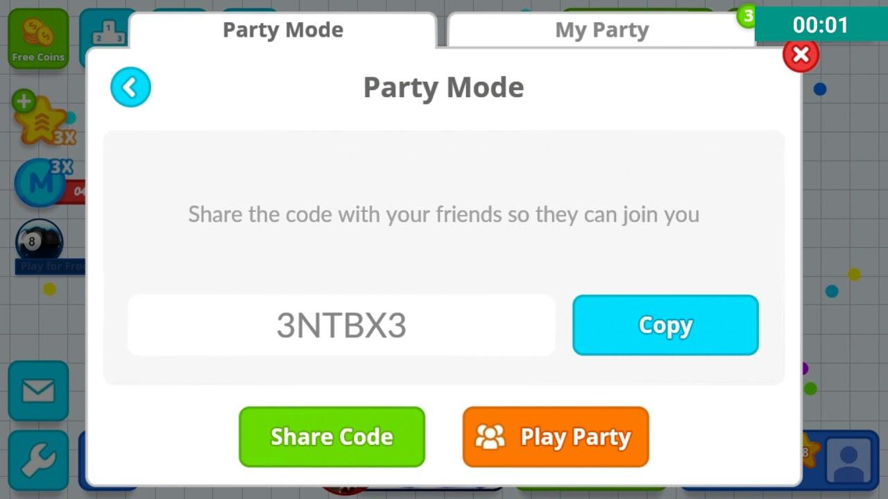 dmexco party code for agario