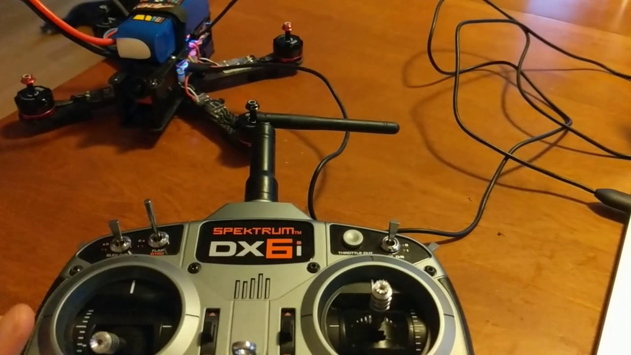 How to arm a quadcopter safely with DX6I