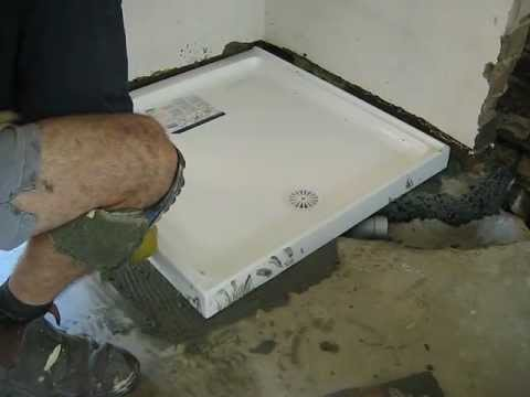 How To Install A Fiberglass Shower Pan On A Concrete Floor